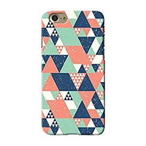 ArtzFolio Blue Orange Green Triangles : Apple iPhone 7 Matte Polycarbonate ORIGINAL BRANDED Mobile Cell Phone Protective BACK CASE COVER Protector : BEST DESIGNER Hard Shockproof Scratch-Proof Accessories : Abstract