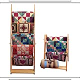 The LadderRack 2-in-1 Quilt Display Rack (5 Rung/30