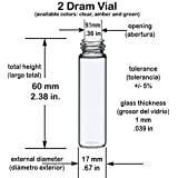 Glass Vials, 2 Dram, Pack of 12