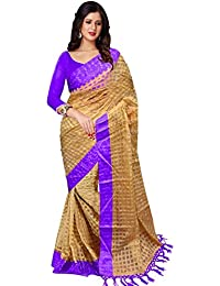 Trendz Cotton Art Silk Saree(TZ_Purple_Art)