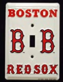 Boston Red Sox MBL Aluminum Novelty Single Light Switch Cover Plate