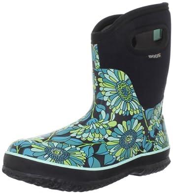 Bogs Women's Classic Mid Mumsie Waterproof Boot,Black,6 M US