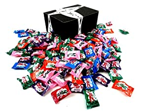 Zotz Fizzy Candy 6-Flavor Assortment, 1 lb Bag in a BlackTie Box