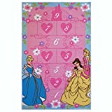 Homelegend DRPRG34 Disney Princess Hopscotch 3-Foot by 4-Foot Nylon Activity Rug