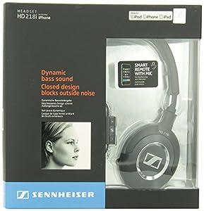 Sennheiser HD 218i Supra-Aural Headphones Compatible with iPod, iPhone, and iPad