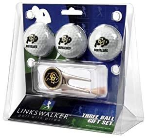 Colorado Buffaloes 3 Golf Ball Gift Pack with Cap Tool by LinksWalker