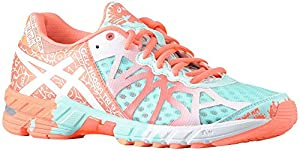 ASICS Women's GEL-Noosa Tri 9 Running Shoe (8.5 B(M) US, Glacier/White/Hot Coral)