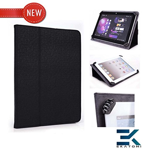 [Agreement] BLACK | Universal Book Style Protection 9-inch Tablet Case with Stand for Visual Land Connect 9. Compensation Ekatomi Screen Cleaner