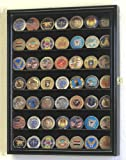 Military Challenge Coin Display Case Cabinet Holder Wall Rack w/ UV Protection