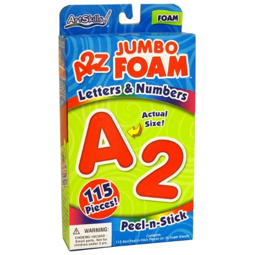 Artskills 115 Piece A2z Jumbo Foam Letter & Numbers - Case Pack of 6