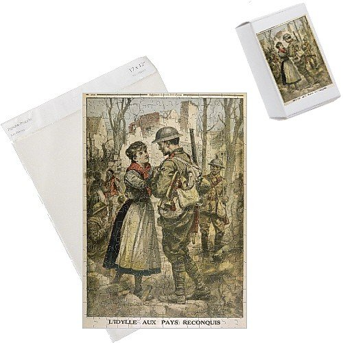 Photo Jigsaw Puzzle of Ww1/tommy/mademoiselle