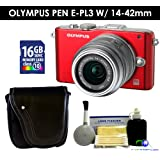 Olympus PEN E-PL3 w/14-42mm Lens (Red) Value Kit