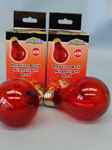 Nightlight Red Reptile Bulb 40 Watts - 2 Bulbs (40w Type R Bulb compare prices)