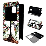 Galaxy Note 4 Case ivencase View Window Painting Art Tree Style Design PU Leather Flip Stand Case Cover For Samsung Galaxy Note 4