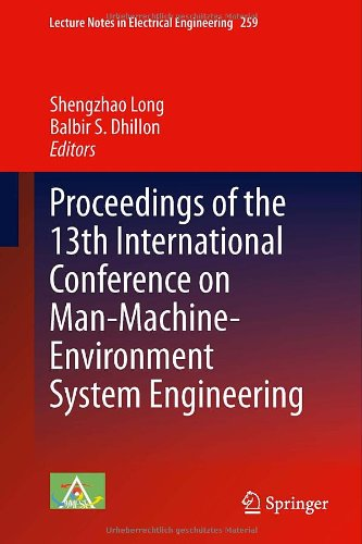 Proceedings Of The 13Th International Conference On Man-Machine-Environment System Engineering (Lecture Notes In Electrical Engineering)