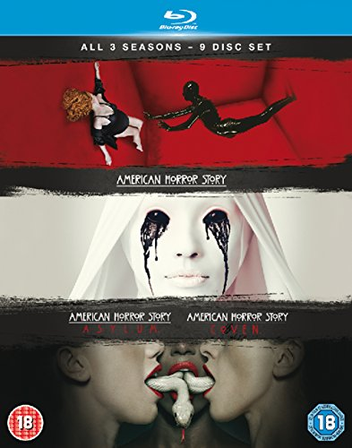 American Horror Story (Season 1-3) - 9-Disc Box Set ( Season One - Murder House / Season Two - Asylum / Season Three - Coven ) [ NON-USA FORMAT, Blu-Ray, Reg.B Import - United Kingdom ]