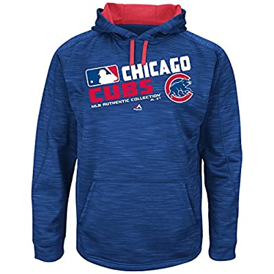 Chicago Cubs On-Field Team Choice Streak Therma Base Synthetic Hoodie by Majestic