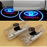 2 LED Door Step Courtesy Light Welcome Light Shadow Logo Projector Lamp F/ Toyota Avalon Avanza Camry Corolla Crown Highlander Land Cruiser Prius Previa Sequoia Sienna Reiz Prado Tundra CNAutoLicht