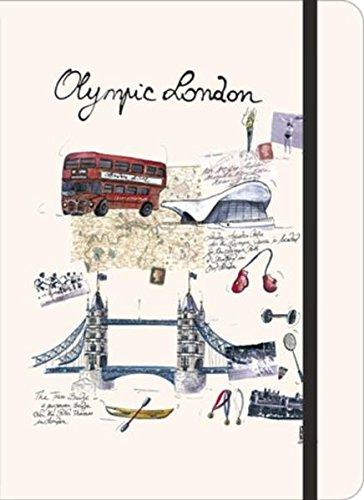 City Journal large Olympic London: Mit Stifthalter, Elastikband zum Schließen, Tasche für Reiseerinnerungen, Stadt- & Nahverkehrsplan