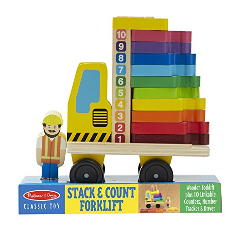 Melissa & Doug Melissa & Doug Stack and Count forklift Playset, Multi Color