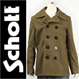 (ショット) Schott ピーコート メルトンウール オリーブ 753US MODEL PEA COAT 24oz. 7118-75 ジャケット 38 (L)