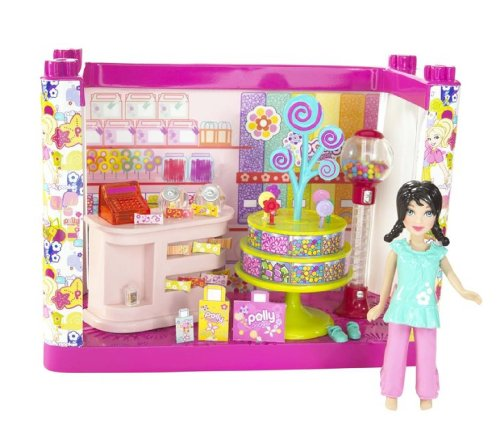 Buy Low Price Mattel Polly Pocket Designables Mix 'n' Match Candy Shop Crissy Doll Figure (B001NXD74E)