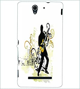 PRINTSWAG GUITAR BOY Designer Back Cover Case for SONY XPERIA C3