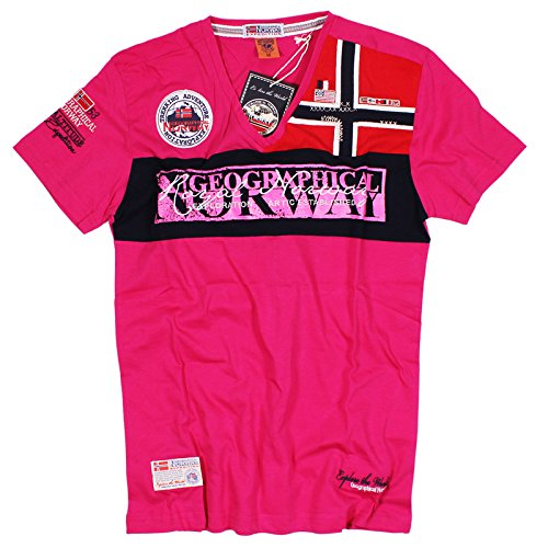 T-shirt GEOGRAPHICAL NORWAY Uomo Men Anapurna Jyer Homme Cotone - Fucsia, L