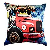 Desirica Printed Indian Truck Cushion Cover
