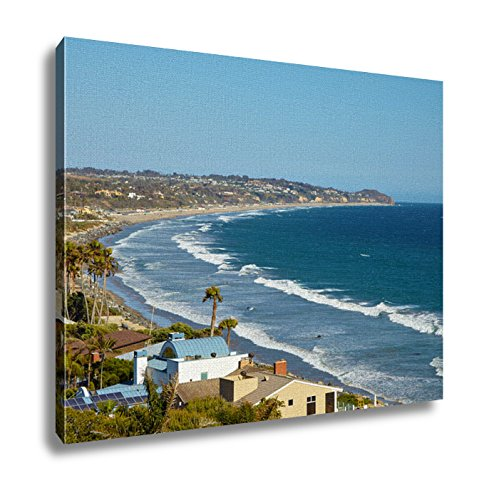Ashley Canvas, Beautiful View Of The Point Dume State Beach Malibu, 16x20 (Malibu Beach House compare prices)