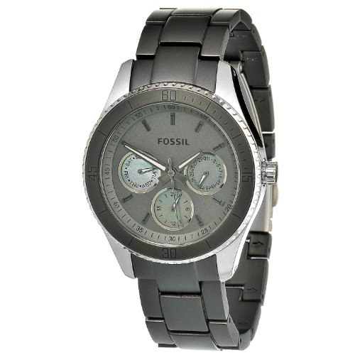 Fossil Women's ES3040 Stella Grey Aluminum and Stainless Steel Watch