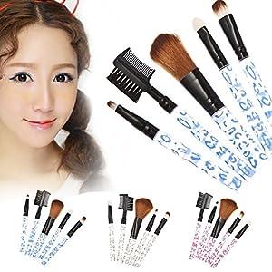 Pro 5Pcs Makeup Cosmetic Tool Eyeshadow Powder Foundation Blending Brush Set New