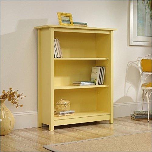 Sauder Original Cottage Bookcase, Melon Yellow Finish New 3 Shelf Bookcase