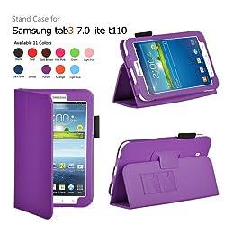 Elsse For Tab 3 Lite - Premium Folio Case for Samsung Galaxy Tab 3 Lite Tablet (Samsung Tab 3 Lite, Purple)