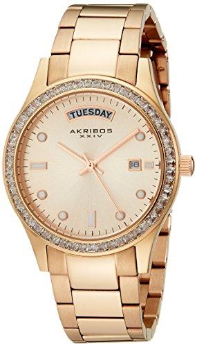 Akribos XXIV Rose Gold-Tone Ladies Watch AK691RG
