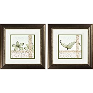 Spa renew ii framed art set of 2 wall d cor for Silver bedroom wall art