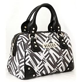 Versace Black & White Handbag
