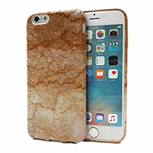 Wastou [Marble Stone Pattern Series] Soft TPU Creative Case for iPhone 6 6S 4.7 Inch (Brown)
