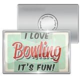 Fridge Magnet I Love Bowling, Vintage design - Neonblond