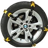 【 取付 簡単 】 簡易 タイヤ チェーン セット 2輪分 軽量 コンパクト ソフト プラスチック 事故 防止 MI-SNOCHAN (L 【タイヤ幅:235から295mm】)