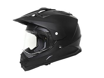 Enduro mX & quadhelm avec visière de tHH-noir mat-m (57/58 cm)