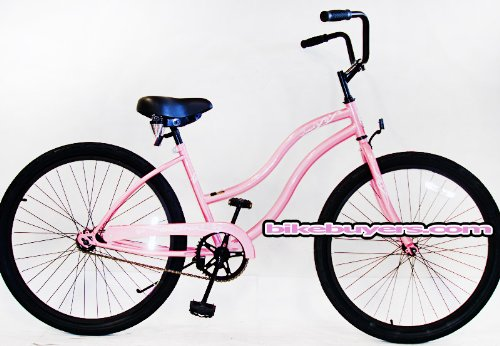 Micargi Touch, pink, women's 1-speed Beach Cruiser Bike Schwinn Nirve Firmstrong Style