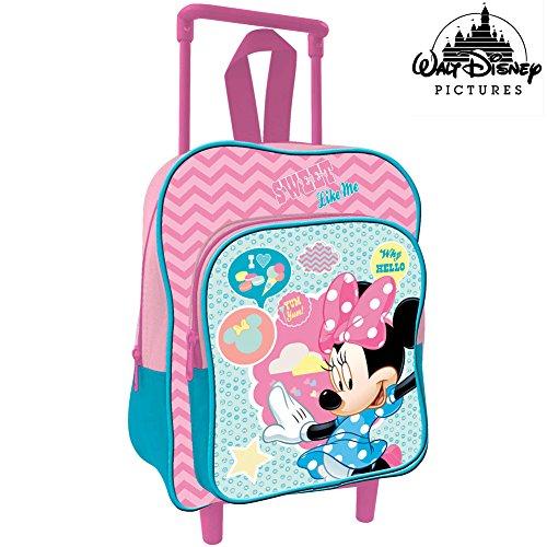 Bakaji Zaino Trolley Minnie Topolina Disney Zainetto Asilo Scuola Bambine Viaggi Altezza 30 cm
