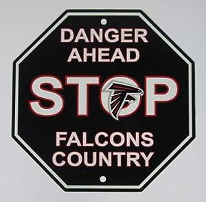 Atlanta Falcons Country Danger Ahead Football Stop Sign 1