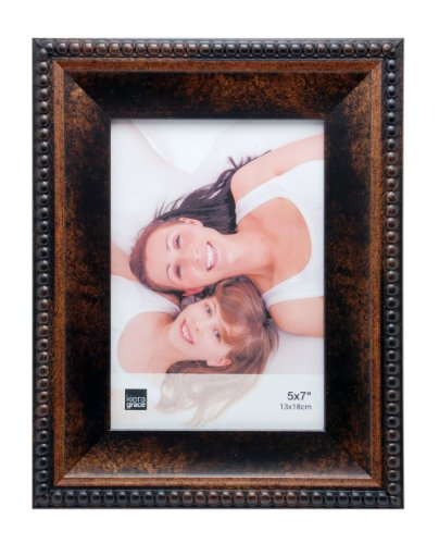 Kiera Grace Sydney Picture Frame, 5 by 7-Inch, Antique Bronze