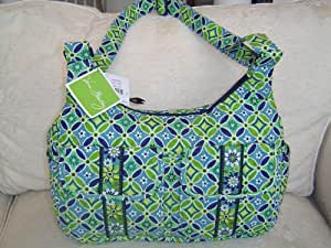 vera bradley cargo sling bag in the daisy daisy retired pattern diaper tote. Black Bedroom Furniture Sets. Home Design Ideas