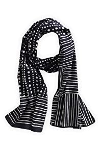 Asian Eye Black Tamara Cotton Fair Trade Scarf