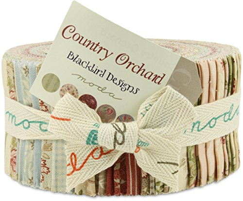 Moda Country Orchard Jelly Roll, 40 2.5x44-inch Cotton Fabric Strips