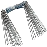 QVS Shop 200 X Metal/Steel Ground Staple Pegs/Pins For Weed Control Fabric Mulch Cover