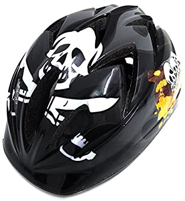 RSP Boy's Rogue Skull Design Cycle Helmet - Black, Medium by RSP